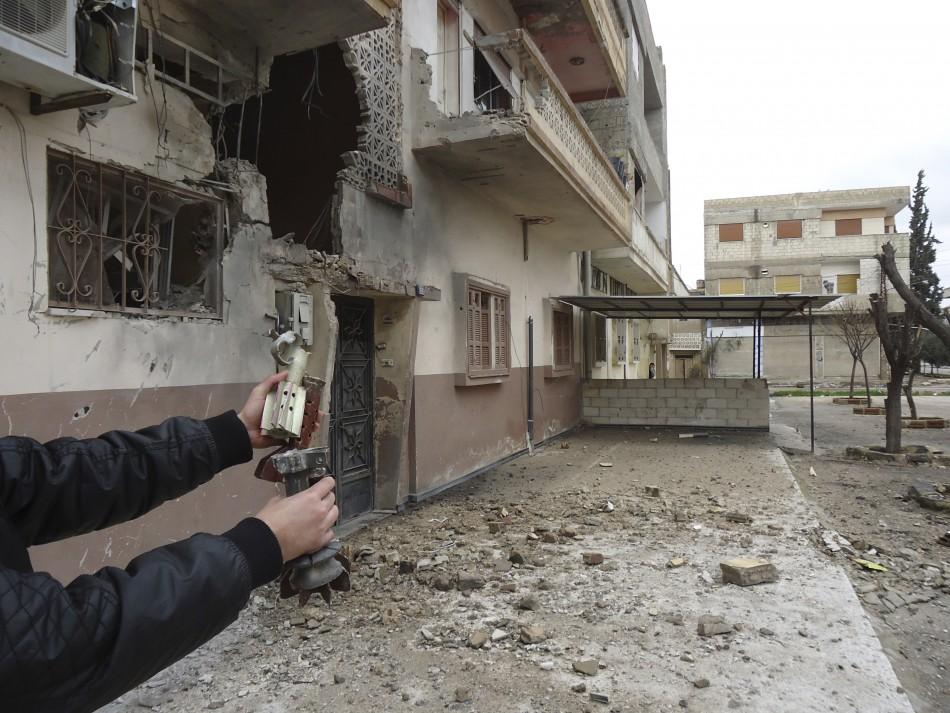 Mortar damage in Homs