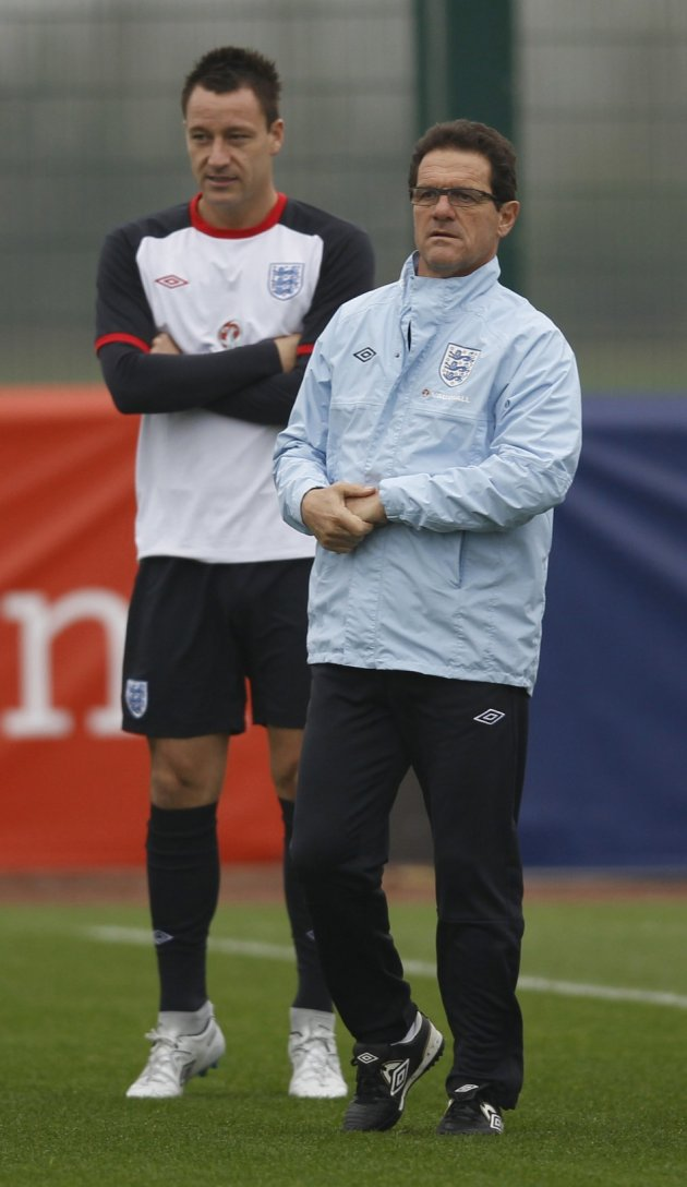 Fabio Capello and recently deposed England captain John Terry in November.
