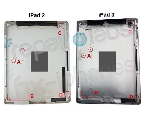 iPad 3 Release Back Panel Revealed Rumor Larger Battery