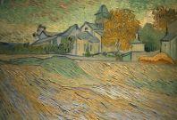 """Vincent Van Gogh's """"Vue de de l'asile et de la Chapelle de Saint-Remy"""
