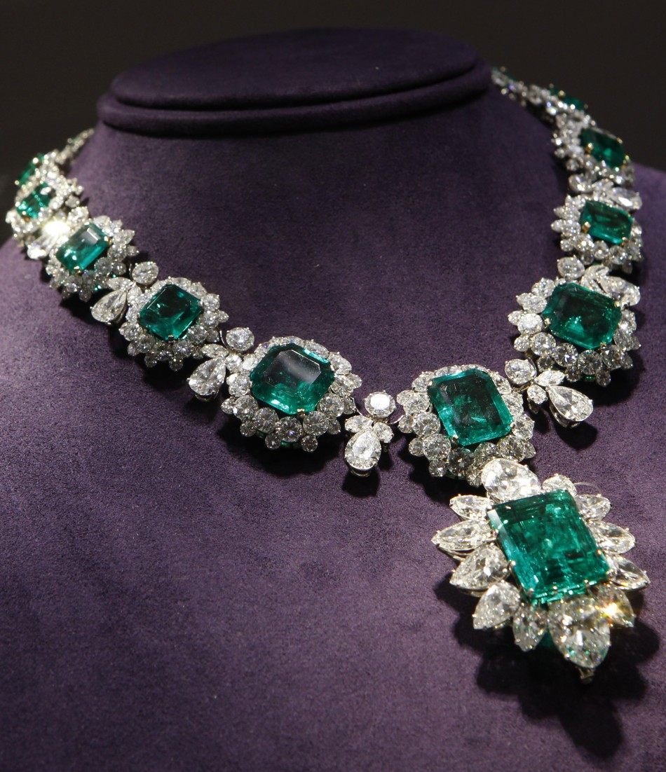 An Emerald and Diamond Necklace by BVLGARI