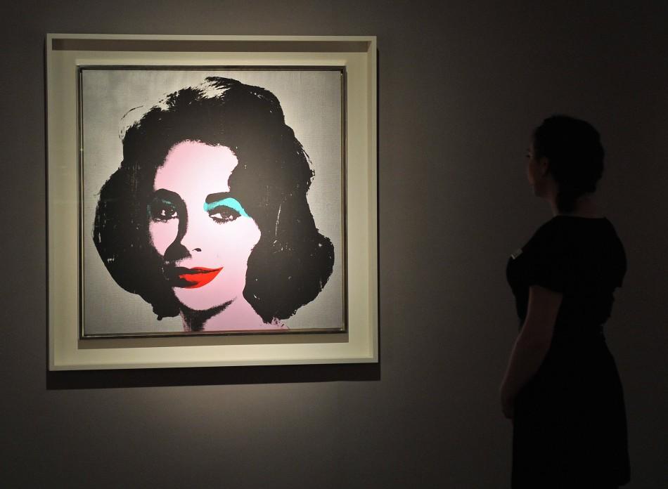 An Andy Warhol portrait of Dame Elizabeth Taylor