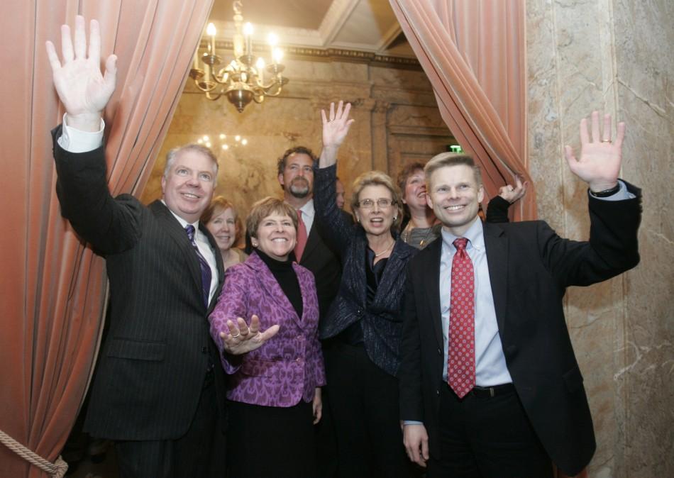 Washington State Senator Murray, Senator Brown, Governor Gregoire and Rep. Pederson