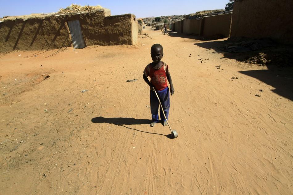 Child refugee in Sudan