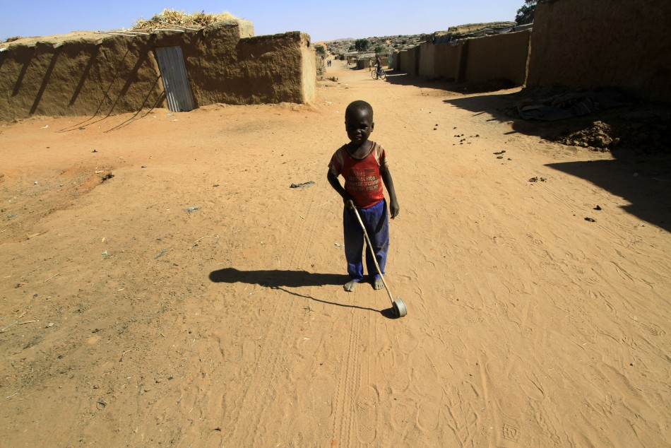 Child refugee in Sudan