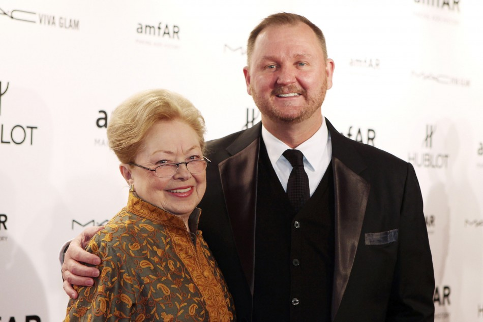 Founding chairman of American Foundation for AIDS Research amfAR Dr. Mathilde Krim R and CEO of amfAR Kevin Robert Frost