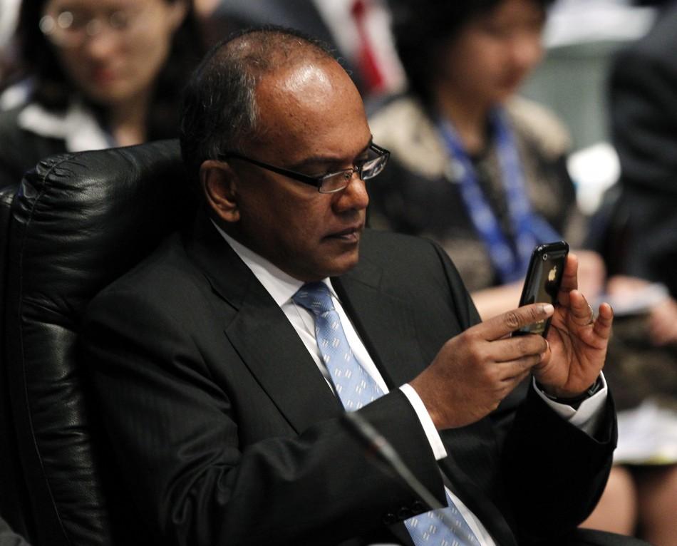 Singapore's Foreign Minister Kasiviswanathan Shanmugam