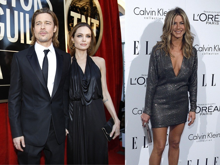 Brad pitt, Angelina Jolie and Jennifer Aniston