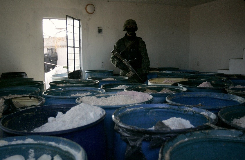 Soldiers found 15 tonnes of the synthetic drug Methamphetamine. (Reuters)