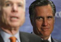 Mitt Romney concedes to John McCain in 2008