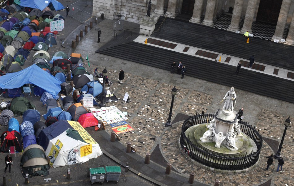 Protesters encamped at St Paul's Cathedral face eviction if they lose appeal hearing on 13 February