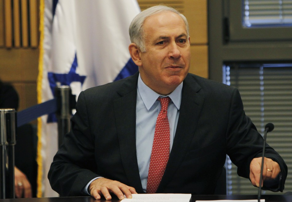 Israel's Prime Minister Netanyahu speaks during a Likud party meeting at the Israeli parliament in Jerusalem