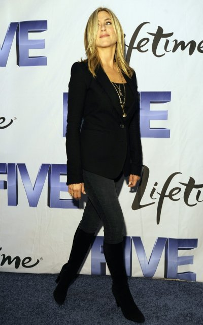 Actress Aniston arrives for a screening of the Lifetime Original movie quotFivequot in Washington