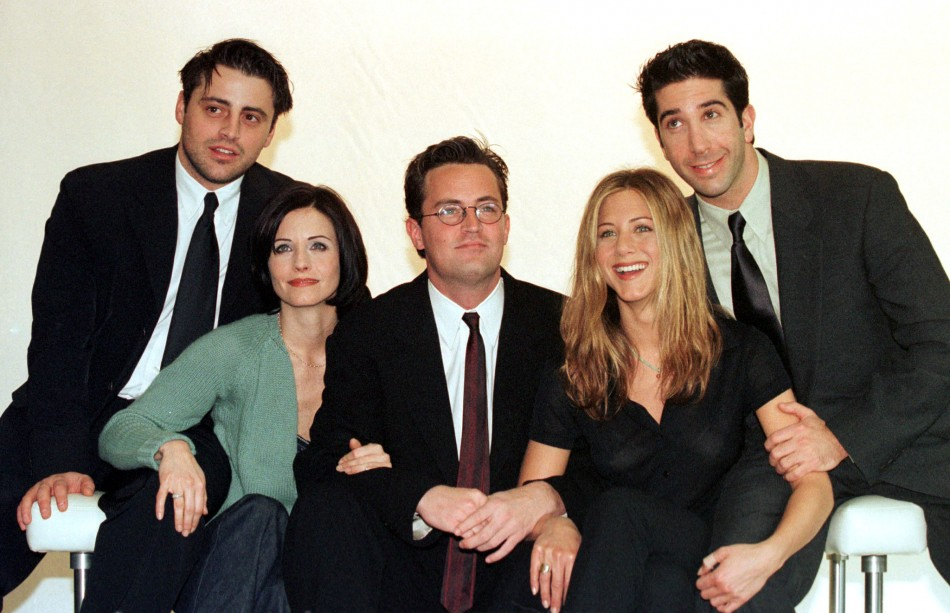 """The cast of the American TV sitcom """"Friends"""""""