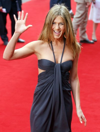 Actress Aniston arrives for the British premiere of quotThe Break Upquot in London