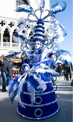 Venice Carnival 2012 Masked Revellers Party Medieval Style