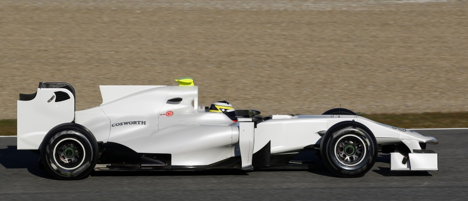 HRT Formula One driver Pedro de la Rosa of Spain drives in Jerez