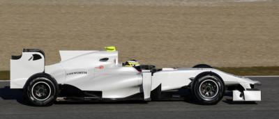 HRT Formula One driver Pedro de la Rosa of Spain drives in Jerez