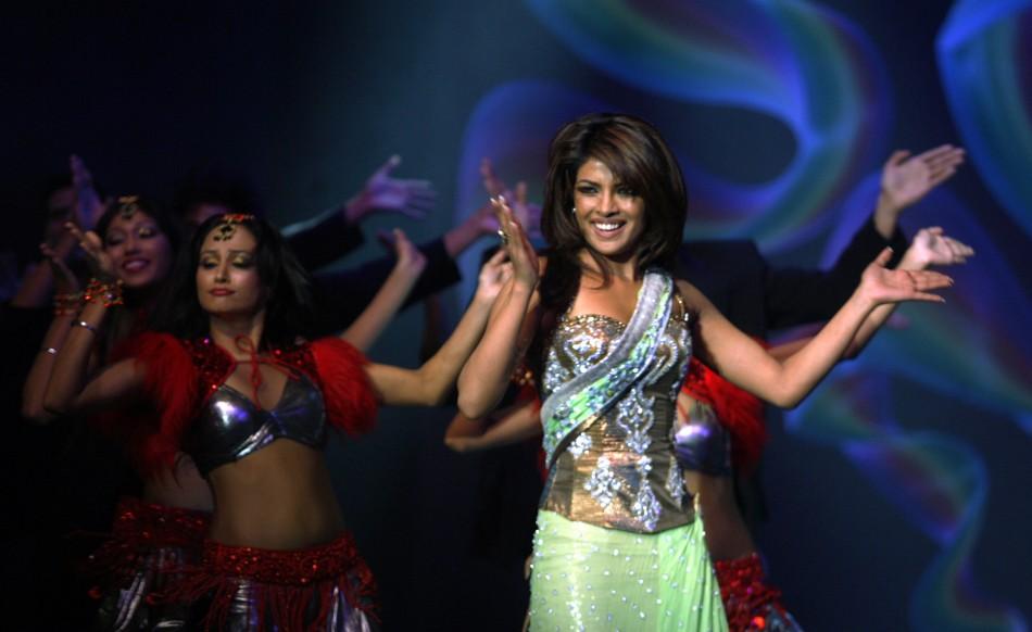 Bollywood actress Chopra performs during the Rajiv Gandhi awards ceremony in Mumbai