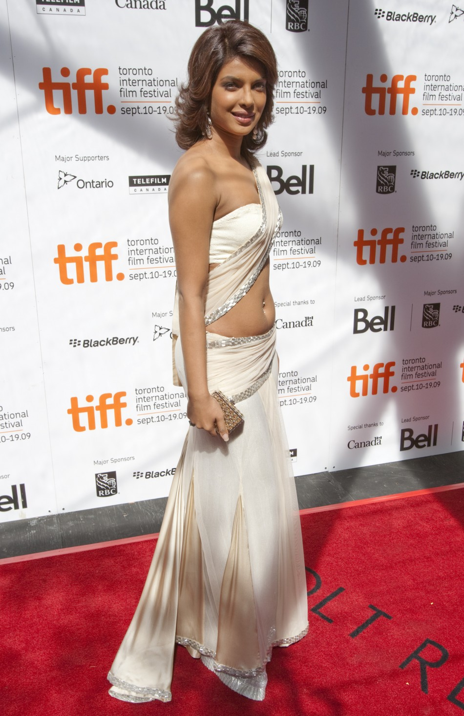 """Actress Chopra arrives for the """"What's Your Raashee"""" film screening during the Toronto International Film Festival"""