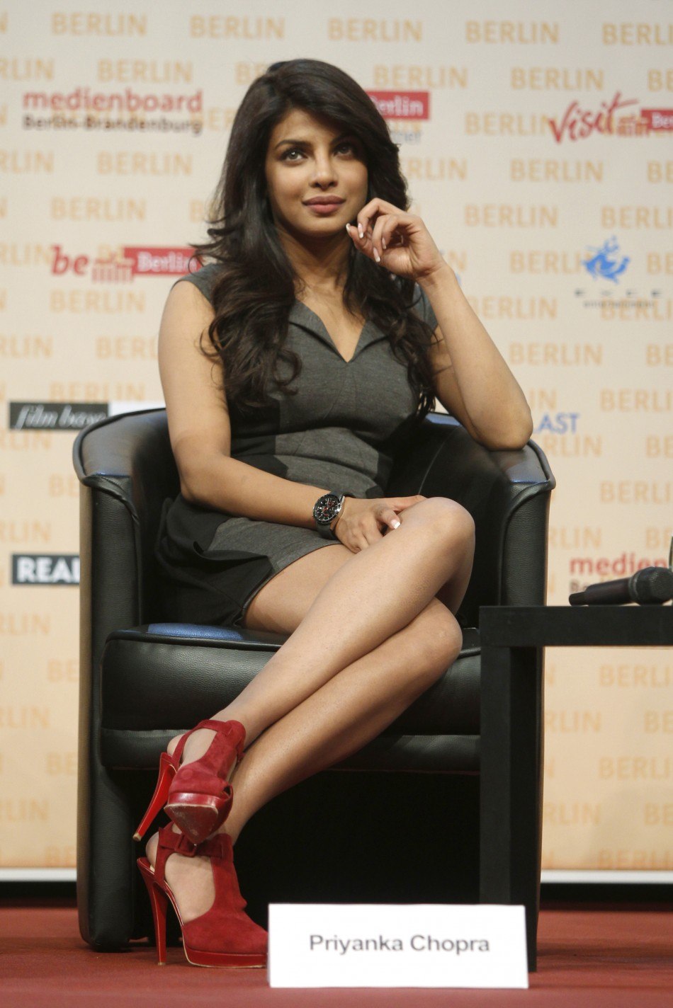 """Indian actress Chopra attends a news conference to promote her movie """"Don-2"""" in Berlin"""