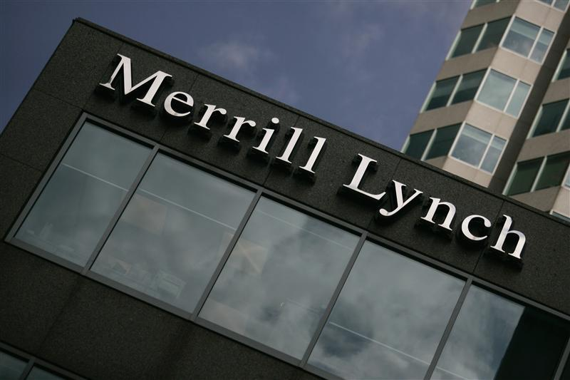 A Merrill Lynch sign is seen in Toronto