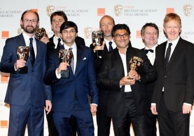 James Gay-Rees, Tim Bevan, Asif Kapandia, Eric Fellner, Manish Pandey, Gregers Sall and Chris King
