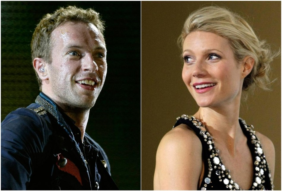 Combo picture of singer Chris Martin of Coldplay and actress Gwyneth Paltrow.