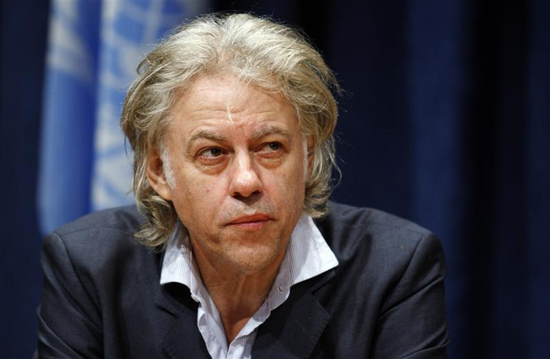 Singer and political activist Geldof attends a news conference on the situation in the Horn of Africa, at the U.N. headquarters in New York