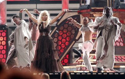 Nicki Minaj performs quotRoman Holidayquot at the 54th annual Grammy Awards in Los Angeles