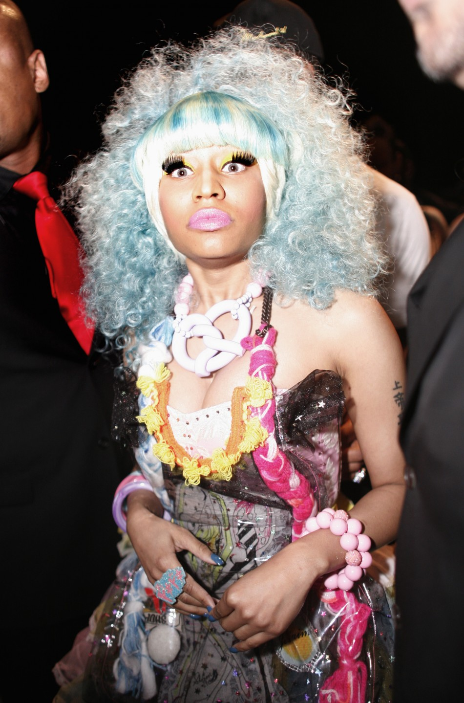 Nicki Minaj attends the Betsey Johnson SpringSummer 2012 collection