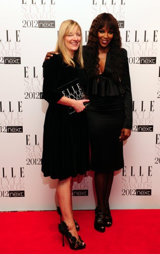 Sarah Burton with Naomi Campbell