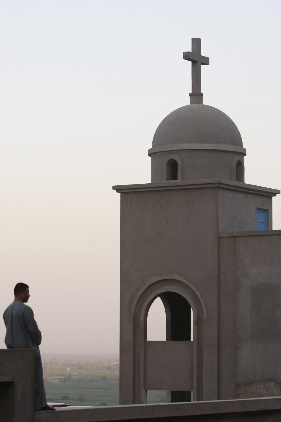 An Egyptian Coptic church Dronka village, outside Assiut, Egypt