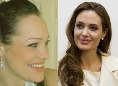 Angelina Jolie and Susie Lawrence