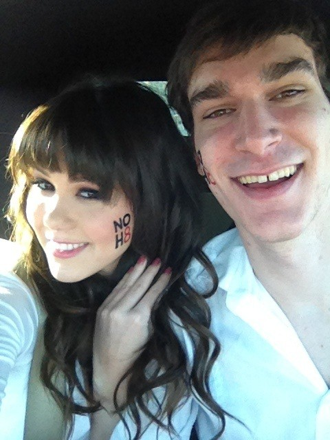 Playmate of the Year Claire Sinclair and Marston Hefner (Lockerz)