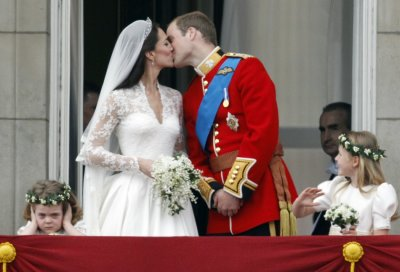 Britains Prince William and his wife Catherine, Duchess of Cambridge, during the Royal Wedding.