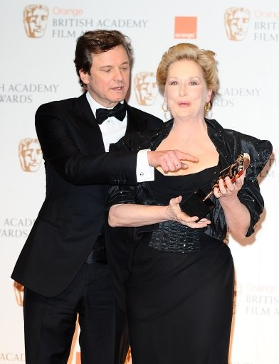 Meryl Streep with Colin Firth