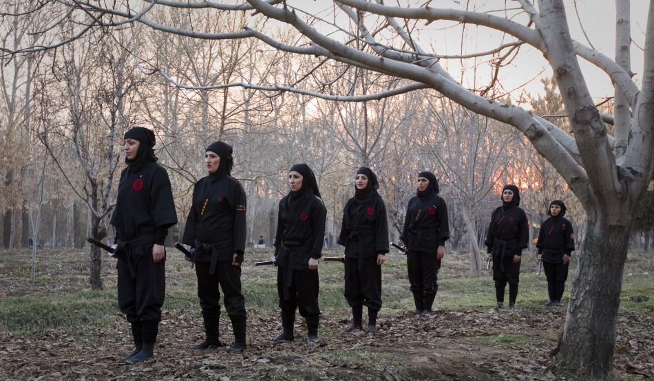 Iran's Female Ninjutsu Warriors: Women Throw Away Hijab to Become Ninja Assassins