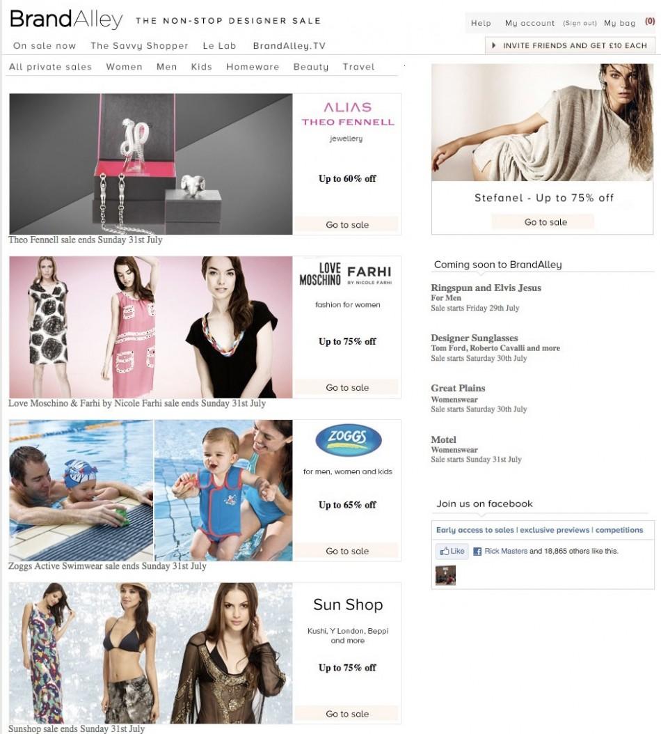 online shopping BrandAlley UK