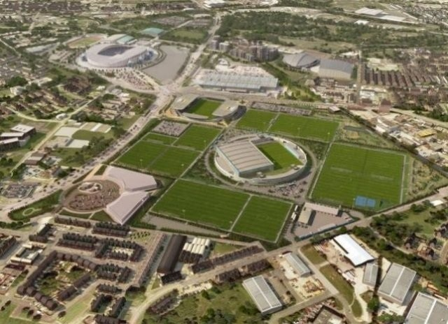 An artist's impression Manchester City's £100m training complex. (MCFC)