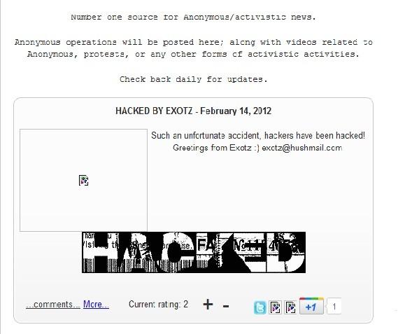 AnonyOps Defacement: Team Matrix Hackers Declare War on Anonymous