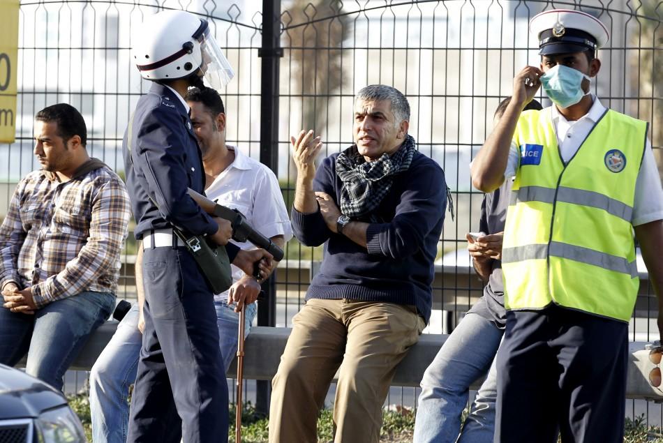 Human rights demonstrators in Manama
