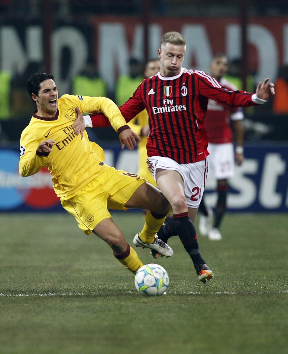 AC Milan vs. Arsenal (Champions League Round of 16 First Leg)