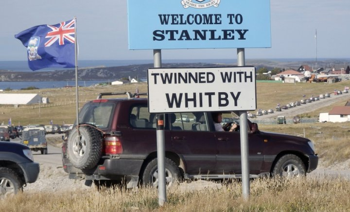 Falkland Islands residents show allegiance to Britain