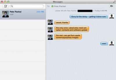 Messages Substitute iChat