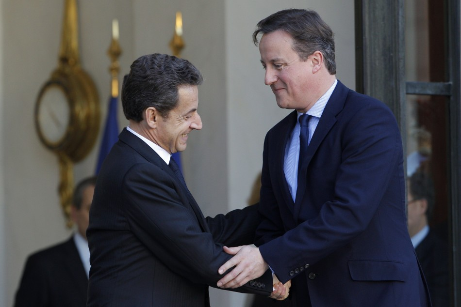 NNicolas Sarkozy and David Cameron seal energy deal between France and Britain