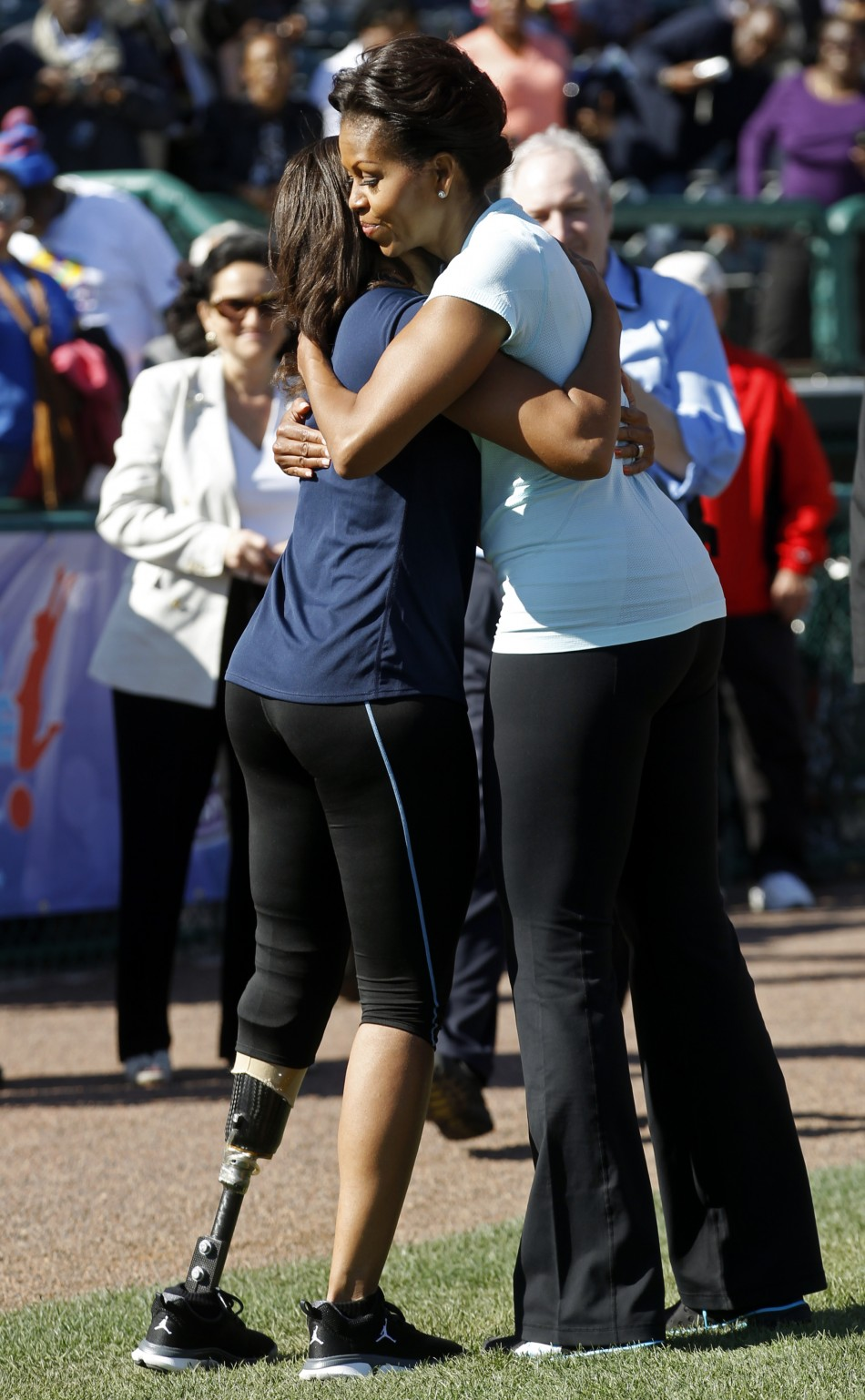 Michelle Obama promotes her quotLet039s Movequot initiative at Disney039s ESPN Wide World of Sports in Orlando, Florida