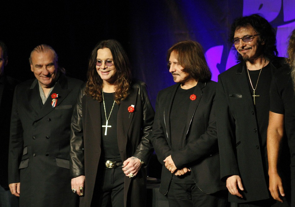 Black Sabbath, shown at their reunion announcement last November, announced that they were cancelling their European tour.