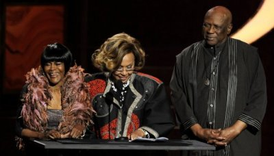 Cicely Tyson, left, Diahann Carroll, center, and Louis Gossett Jr.