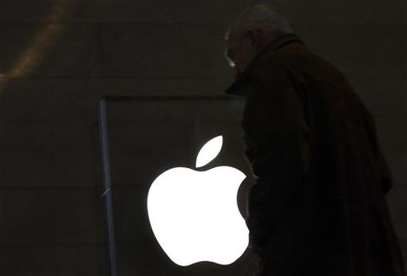 A customer visits the Apple Store in New York City's Grand Central Station